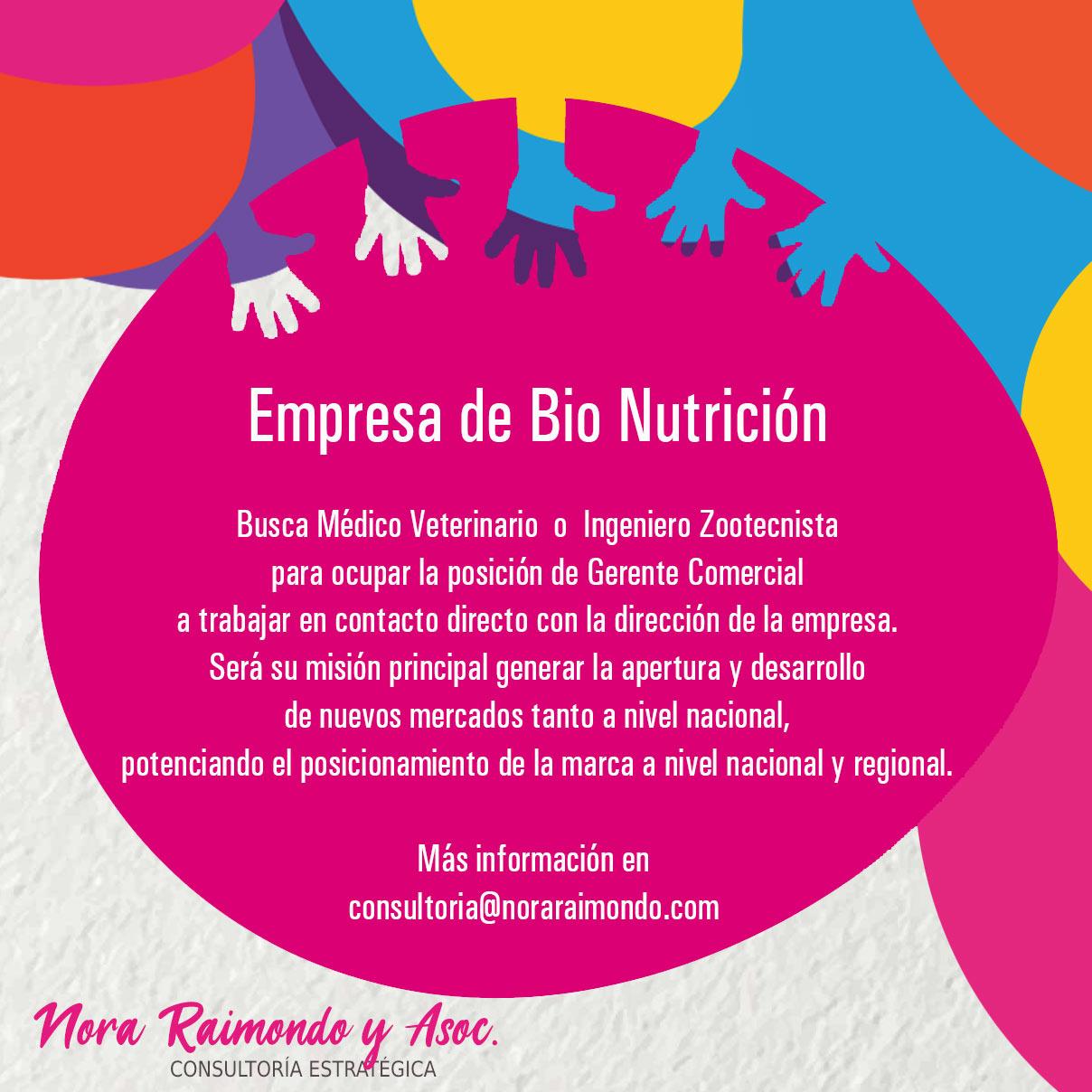 Búsqueda Laboral Médico Veterinario/Ingeniero Zootecnista